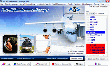 Aircraft Maintenance/Inventory Tracking Software
